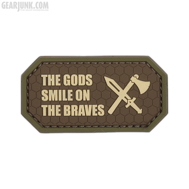 """Patch """"The Gods Smile On The Braves"""", braun"""