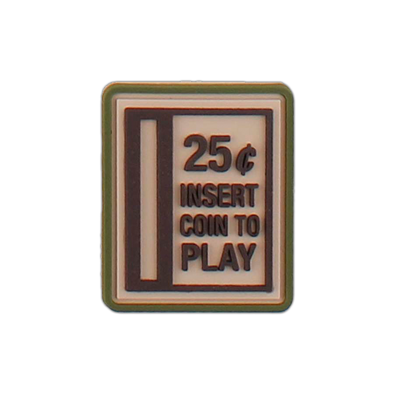 """Patch """"Insert Coin To Play"""", sand"""